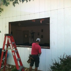 Hennessy Window - During Instal