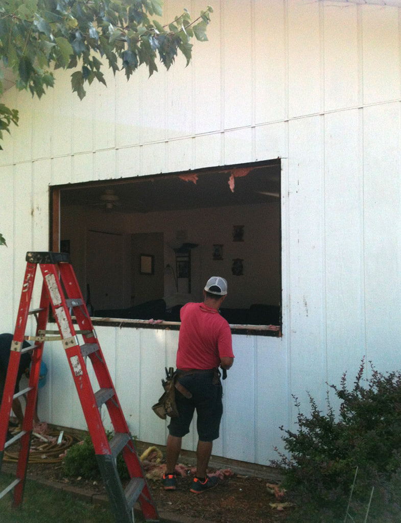 Hennessy Window - During Install